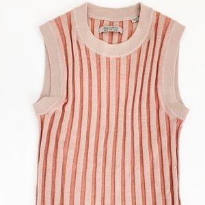 All Saints Kait Knitted Tank in Soft Coral